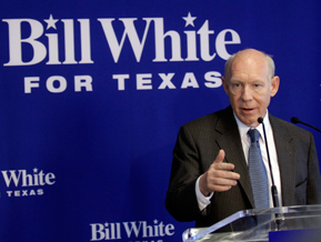 Texas gubernatorial candidate Bill White, former mayor of Houston