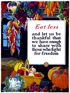 Be Thankful WWI Poster
